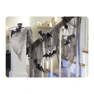 Obrázek Halloweenská dekorace síť s netopýry 61 x 457 cm