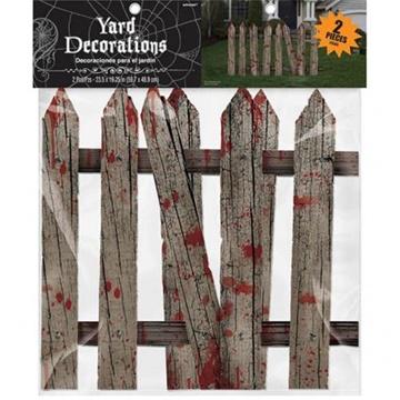 Obrázek Halloweenská dekorace krvavý plot 60 x 49 cm