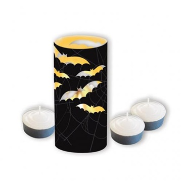 Obrázek Samostojné lampiony se svíčkou netopýr 8 ks