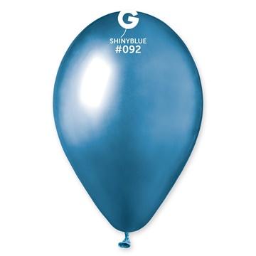 Obrázek Latexový balonek chromový modrý 33 cm