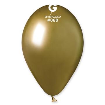 Obrázek Latexový balonek chromový zlatý 33 cm