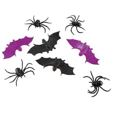 Obrázek Halloweenská dekorace gumový netopýři 6 ks