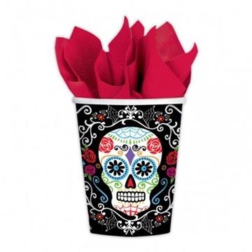 Obrázek Papírové kelímky Halloween - Day of the dead 10 ks