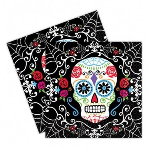Obrázek z Papírové party ubrousky Halloween - Day of the dead 20 ks