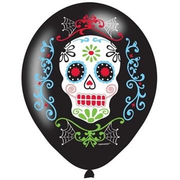 Obrázek Latexové balonky Halloween - Day of the dead 6 ks