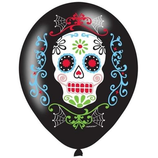 Obrázek z Latexové balonky Halloween - Day of the dead 6 ks