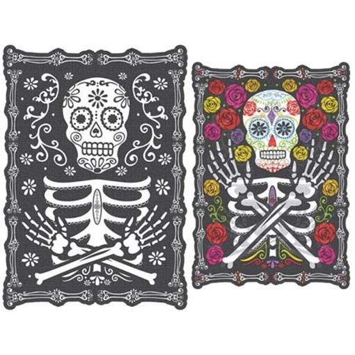 Obrázek z Halloweenská dekorace měnící obraz - Day of the dead 45 x 30 cm