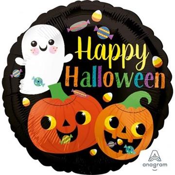 Obrázek Foliový balonek Happy Halloween - dýně 43 cm