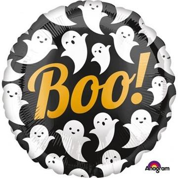 Obrázek Foliový balonek Halloween Boo - duchové 43 cm