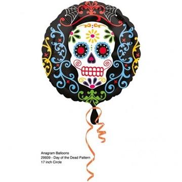 Obrázek Foliový balonek halloween - lebka 43 cm