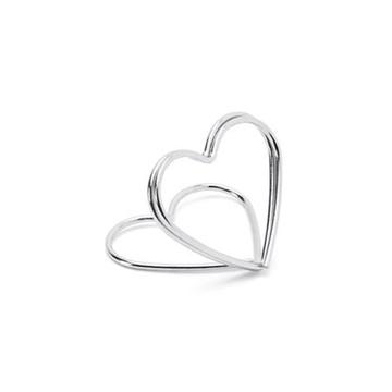 Obrázek Stojánek na jmenovky srdce stříbrné - 10 ks