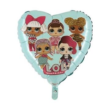 Obrázek Foliový balonek srdce LOL Surprise modrý 45 cm