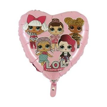 Obrázek Foliový balonek srdce LOL Surprise růžový 45 cm
