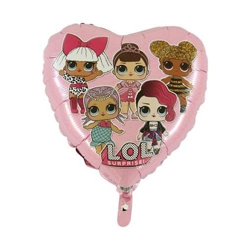 Obrázek z Foliový balonek srdce LOL Surprise růžový 45 cm