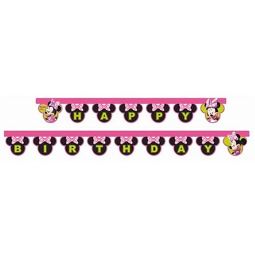 Obrázek Party nápis Minnie Helpers Happy Birthday 200 cm