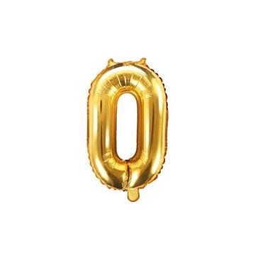 Obrázek Foliová číslice - zlatá 0 - 35 cm