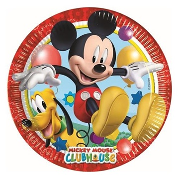 Obrázek Papírové talíře Mickey Playful 23 cm - 8 ks