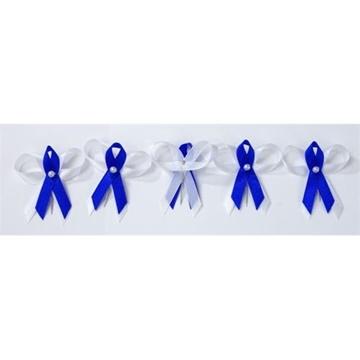 Obrázek Svatební vývazek tmavě modro-bílý