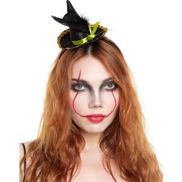 Obrázek Halloweenská čelenky čarodejnický klobouk