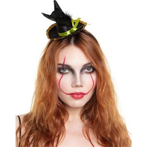 Obrázek z Halloweenská čelenky čarodejnický klobouk