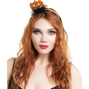 Obrázek Halloweenská čelenky glitrová dýně