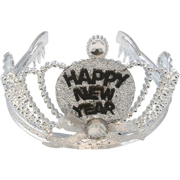 Obrázek Čelenka - korunka Happy New Year s LED