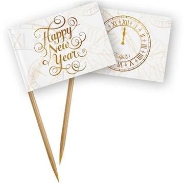 Obrázek Napichovátka Happy New Year 50 ks