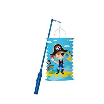 Obrázek Závěsný lampion válec s tyčkou Pirát