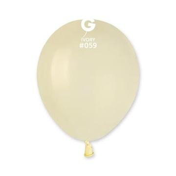 Obrázek Balonky 13 cm - slonovinová kost - 100 ks