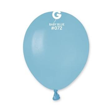 Obrázek Balonky 13cm - baby blue - 100ks