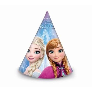 Obrázek Papírová čepička Frozen 6 ks
