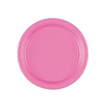 Obrázek Papírové talířky světle růžové 18 cm - 8 ks