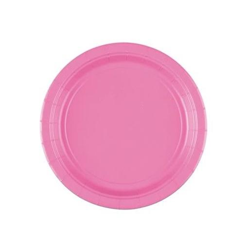 Obrázek z Papírové talířky světle růžové 18 cm - 8 ks