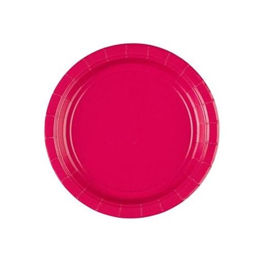 Obrázek z Papirové talířky tmavě růžové 18 cm - 8 ks