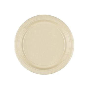 Obrázek Papírové talířky vanilkové  18 cm - 8 ks