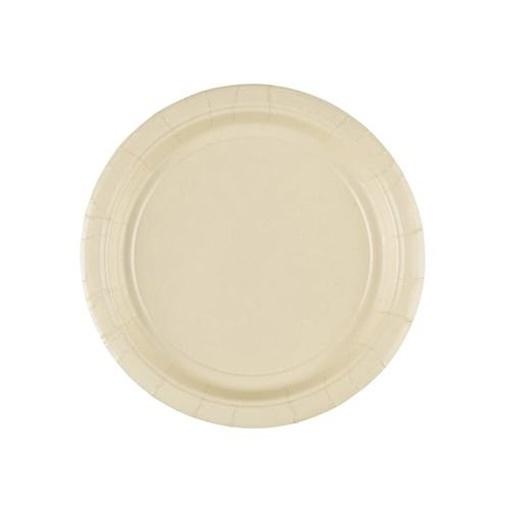 Obrázek z Papírové talířky vanilkové  18 cm - 8 ks