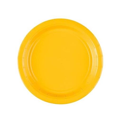 Obrázek z Papírové talířky žluté  18 cm - 8 ks
