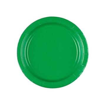 Obrázek Papírové talířky zelené 18 cm - 8 ks