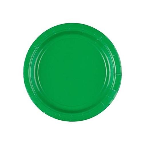 Obrázek z Papírové talířky zelené 18 cm - 8 ks