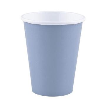 Obrázek Papírové kelímky pastelové modré 8 ks