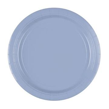 Obrázek Papírové talíře pastelové modré 23 cm - 8 ks