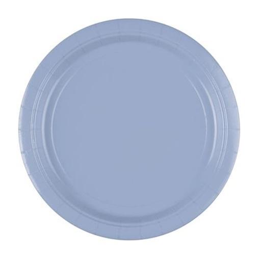 Obrázek z Papírové talíře pastelové modré 23 cm - 8 ks