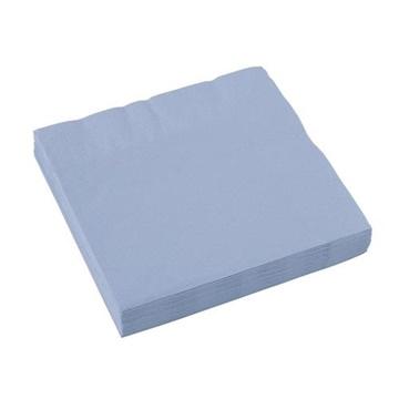 Obrázek Papírové ubrousky pastelové modré 20 ks