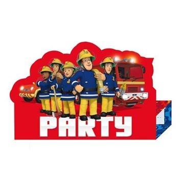 Obrázek Party pozvánky Požárník Sam New 8 ks