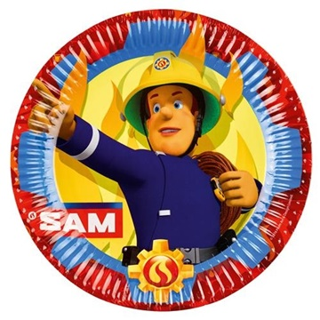 Obrázek Papírové talíře Požárník Sam New 23 cm - 8 ks