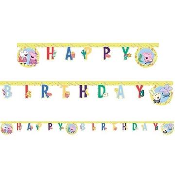 Obrázek Party nápis prasátko Peppa 230 cm