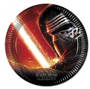 Obrázek Papírové talíře Star Wars - The Force Awakens 23 cm - 8 ks
