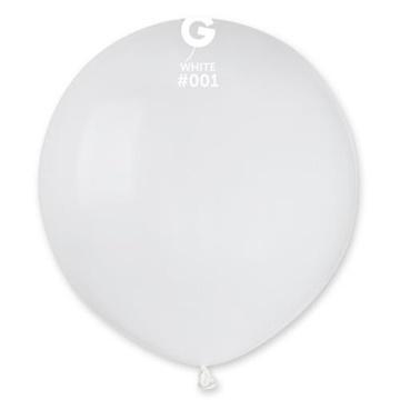 Obrázek Balonek bílý 48 cm - 50 ks