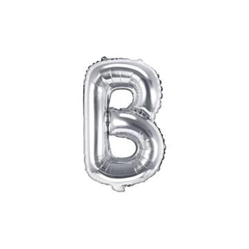 Obrázek Foliové písmeno B stříbrné 35 cm