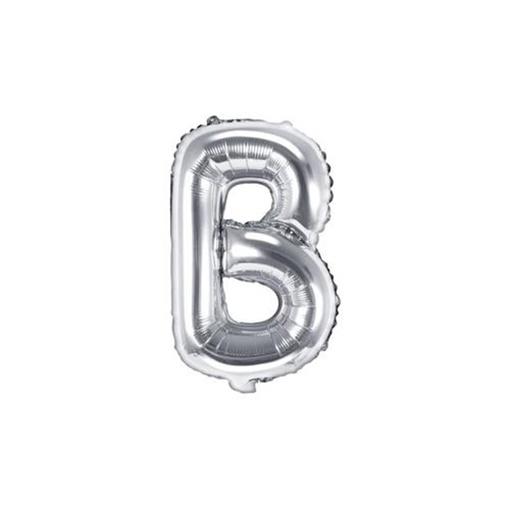 Obrázek z Foliové písmeno B stříbrné 35 cm
